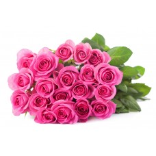 Bouquet of 21 pink roses
