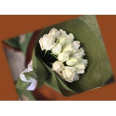 Bouquet of two dozen white roses